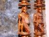 Masai Kerzenständer Paar H= 50 B= 11 cms € 670,- DD